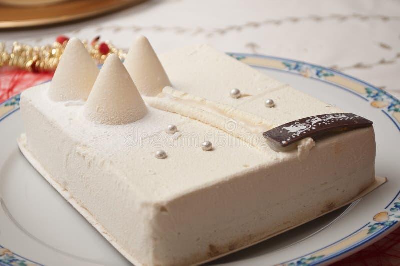 Торт мороженого рождества стоковая фотография rf