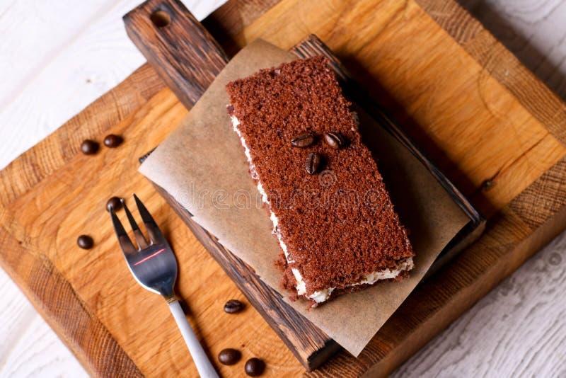 Торт мусса шоколада стоковые изображения rf
