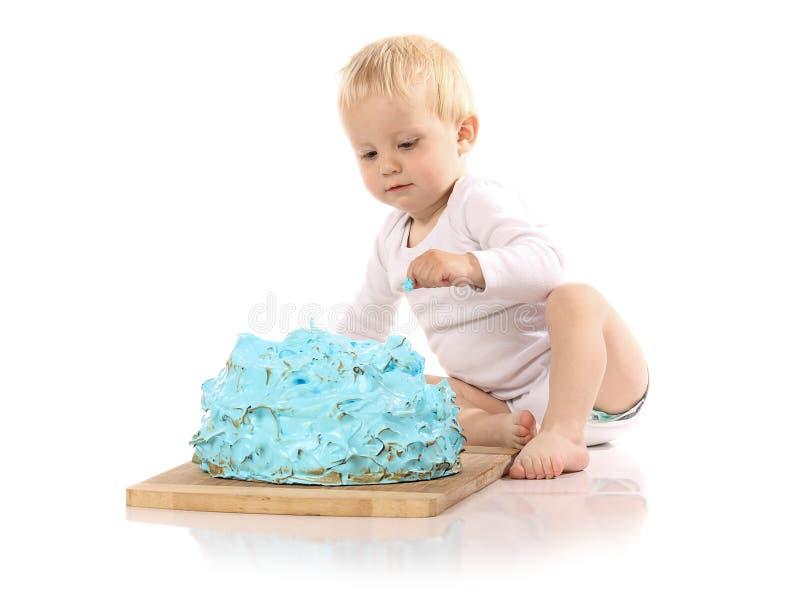 Торт младенца ломая стоковое изображение rf