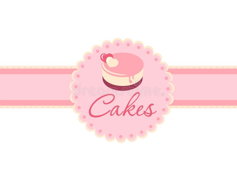 Торт на пинке иллюстрация штока