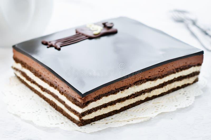 Торт оперы стоковые изображения rf