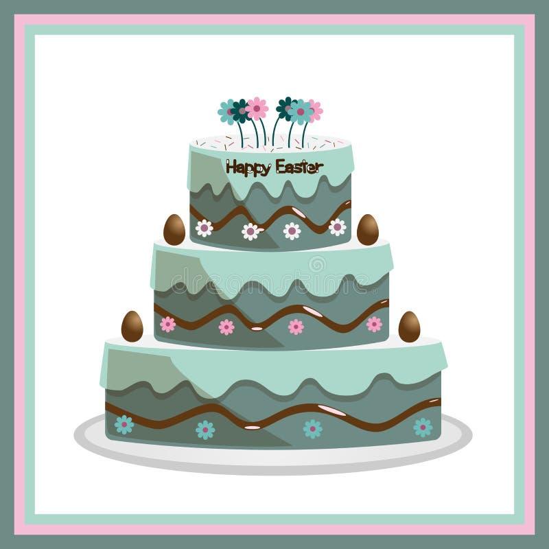 торт пасха иллюстрация вектора