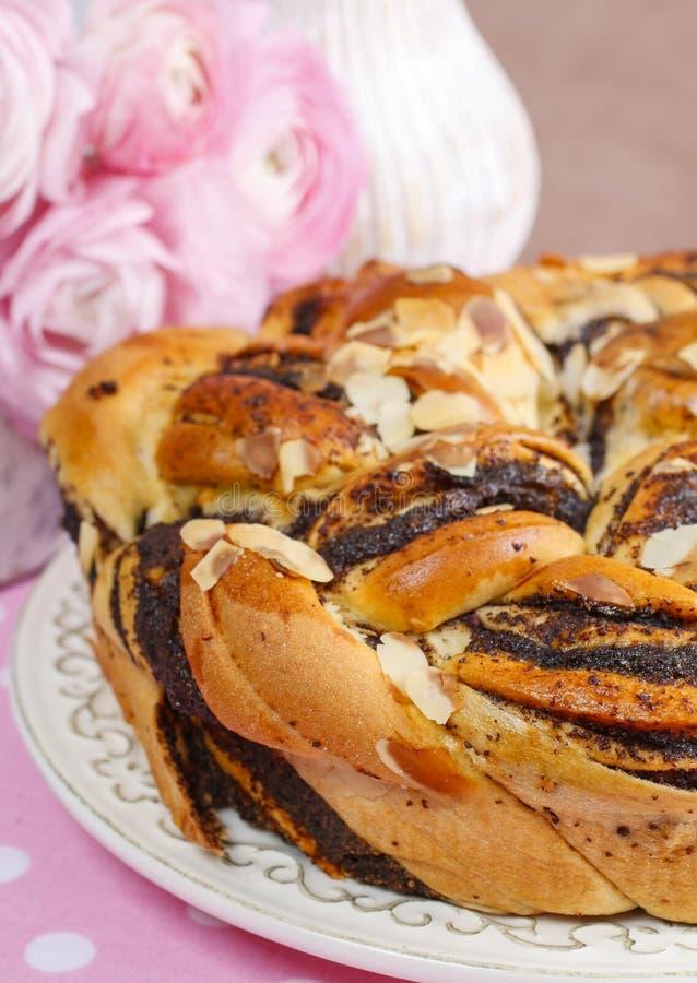 Торт пасхи макового семенени стоковое фото