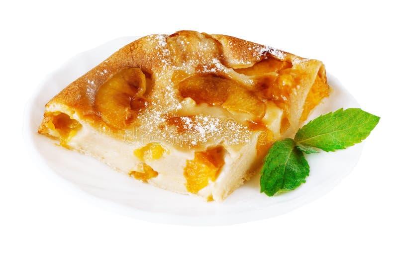 Торт персика с мятой стоковое изображение
