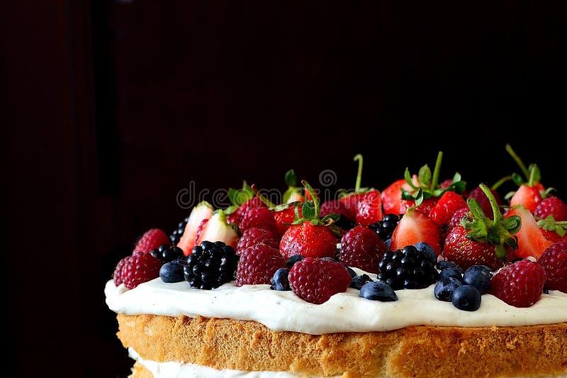 Торт плодоовощей леса стоковая фотография