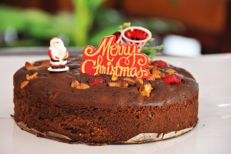 Торт сливы Кристмас стоковое изображение rf