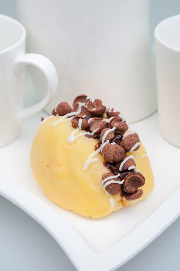 Торт сливк хруста кокосов стоковое изображение