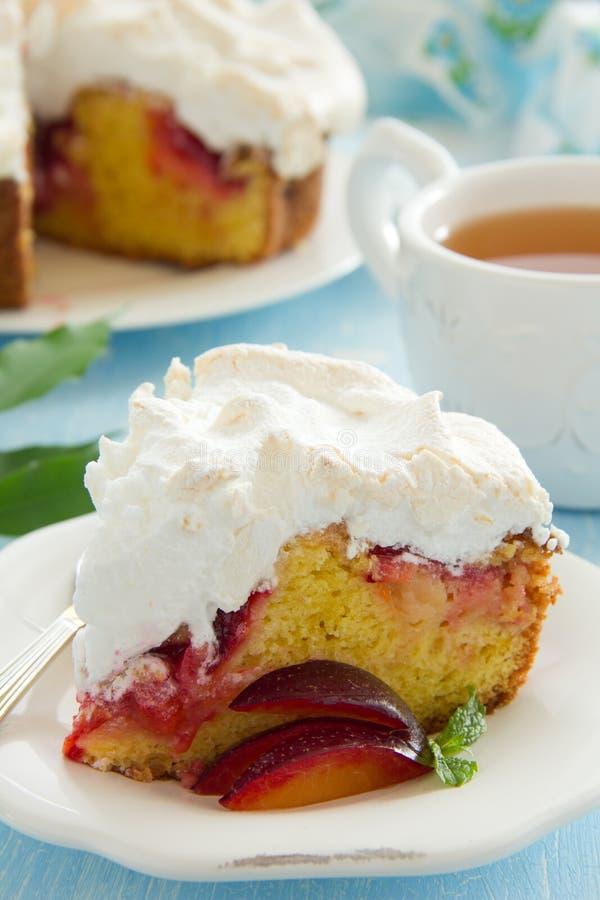 Торт сливы стоковое изображение