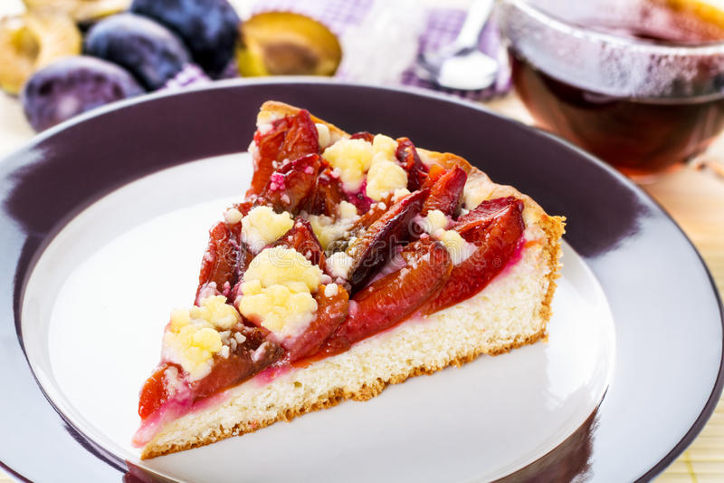 Торт сливы стоковое фото rf