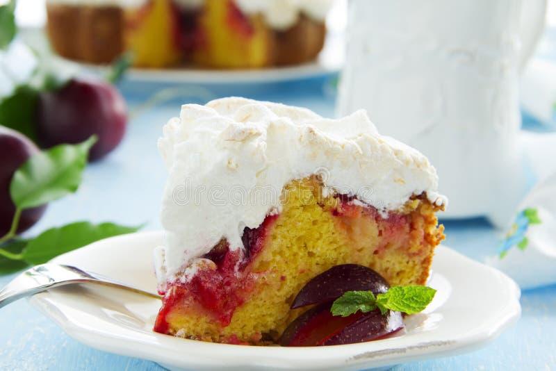 Торт сливы стоковое фото