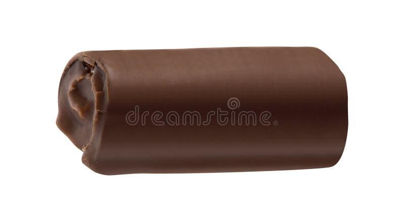 Торт творога шоколада изолированный на белизне стоковое изображение rf
