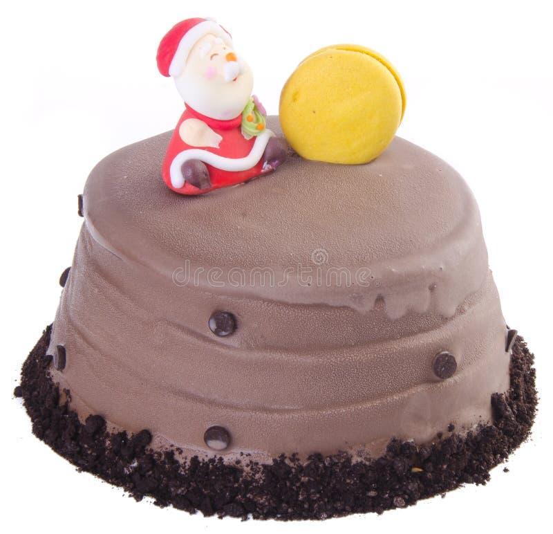 Торт, торт мороженного рождества стоковая фотография rf