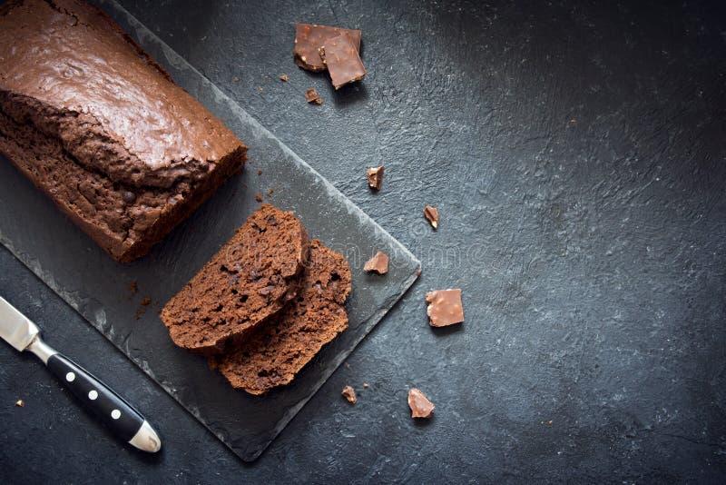 Торт фунта шоколада стоковые фотографии rf