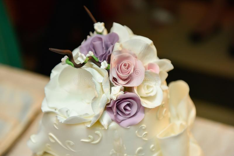 Торт цветка стоковое фото