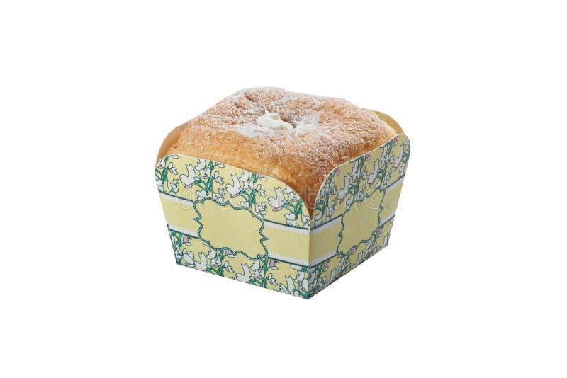 Торт чашки Deliciuos ванильный стоковые изображения rf