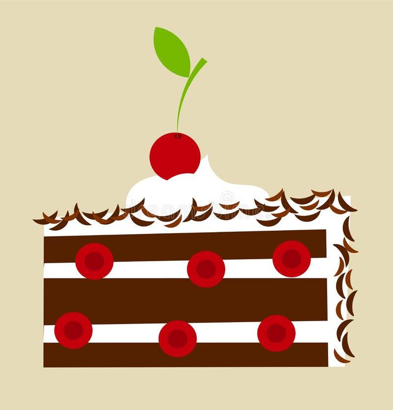 Торт черного леса иллюстрация штока