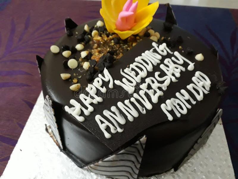Торт шоколада с гайками стоковая фотография