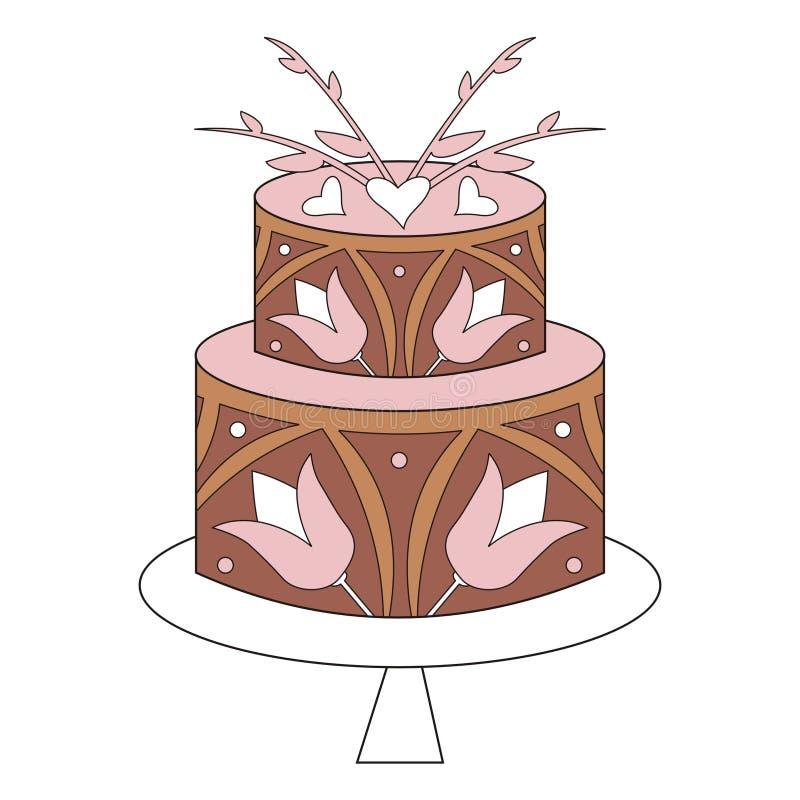торт иллюстрация штока