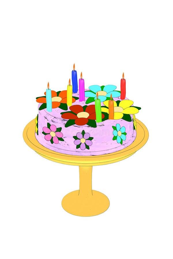 Торт иллюстрация вектора