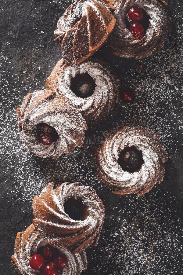 Торт Bundt шоколада стоковое изображение rf