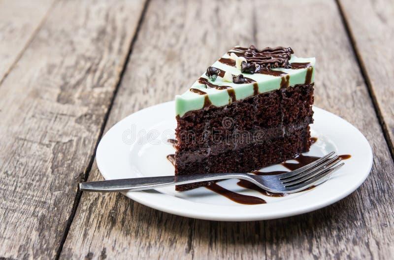 Торт choholate мяты стоковая фотография rf