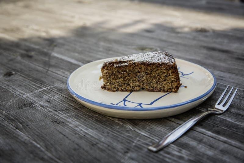 Торт limoncello миндалины стоковые изображения