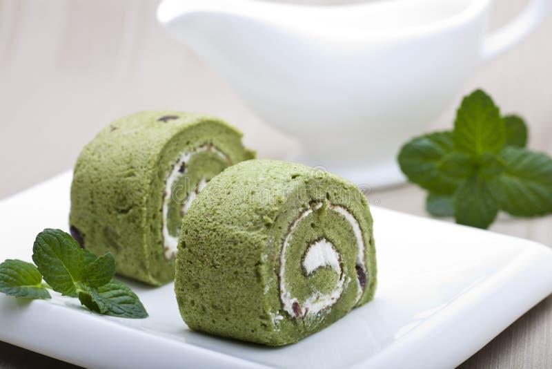 Торт Matcha стоковое изображение