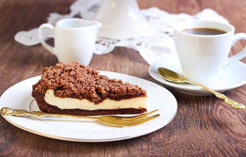 Торт mocha шоколада стоковые изображения