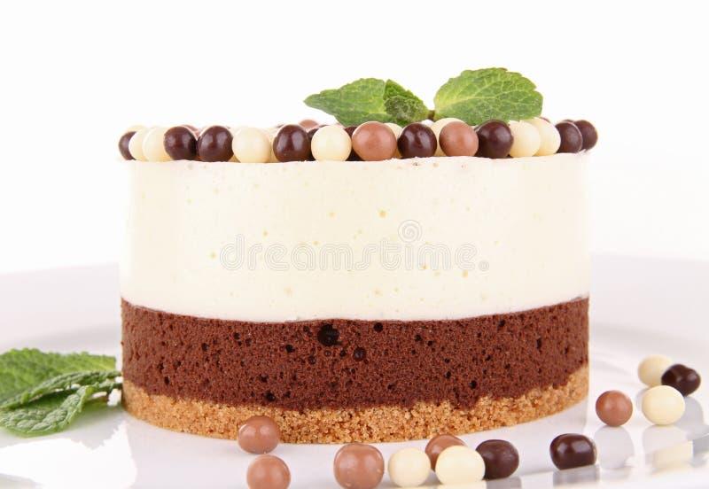 Торт mousse шоколада стоковая фотография