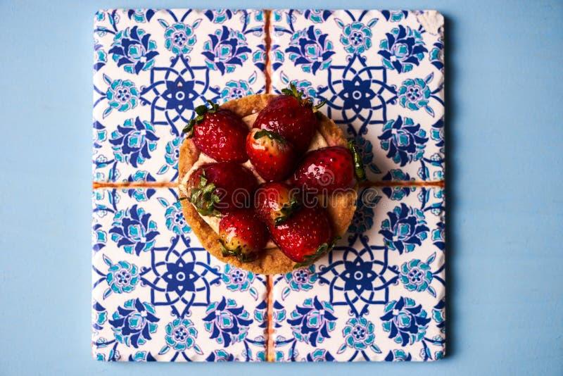 Торт Tartlet или печенье торта корзины стоковое фото