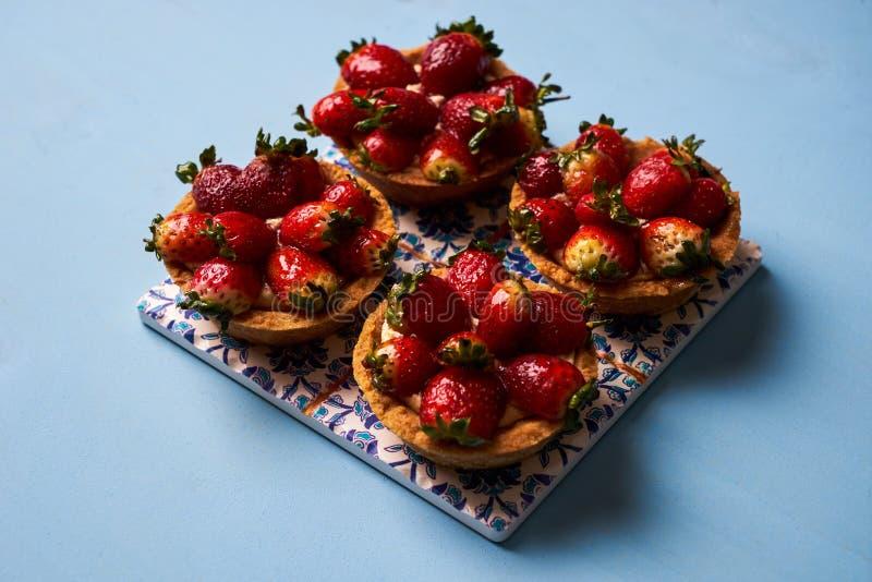 Торт Tartlet или печенье торта корзины стоковое фото rf
