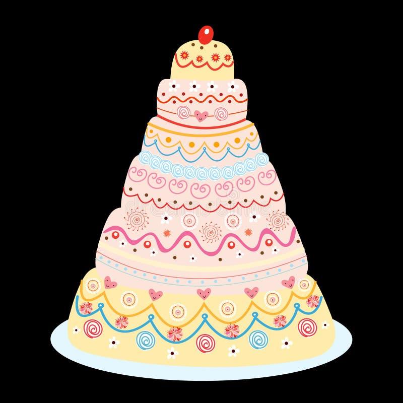 торт yummy иллюстрация вектора
