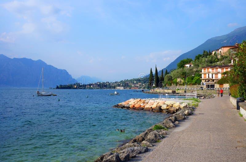 Торус del Benaco, озеро Garda стоковое изображение