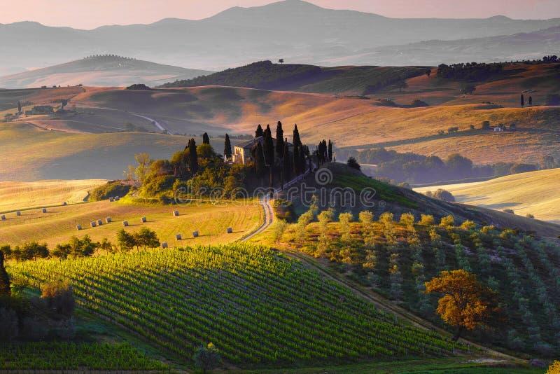 Тоскана, ландшафт стоковые изображения