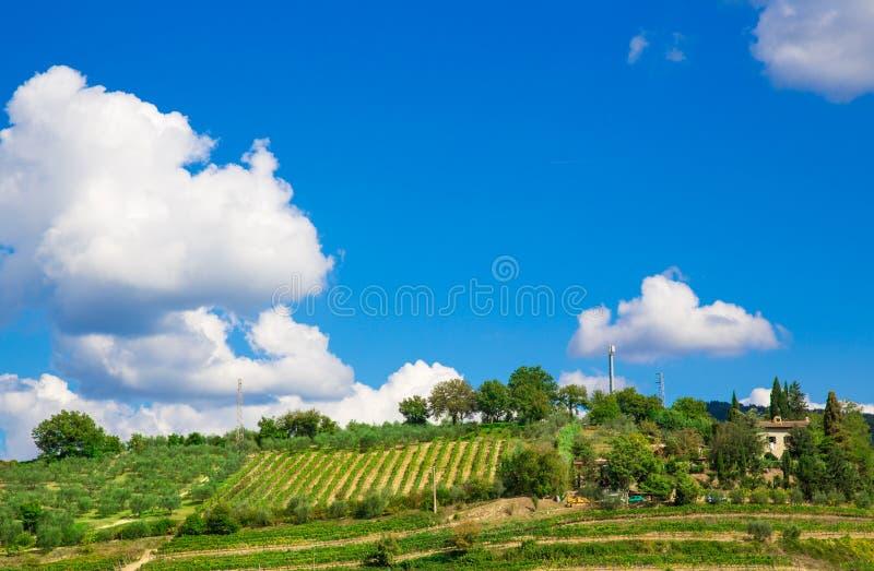 Тоскана, итальянский сельский ландшафт стоковые изображения rf