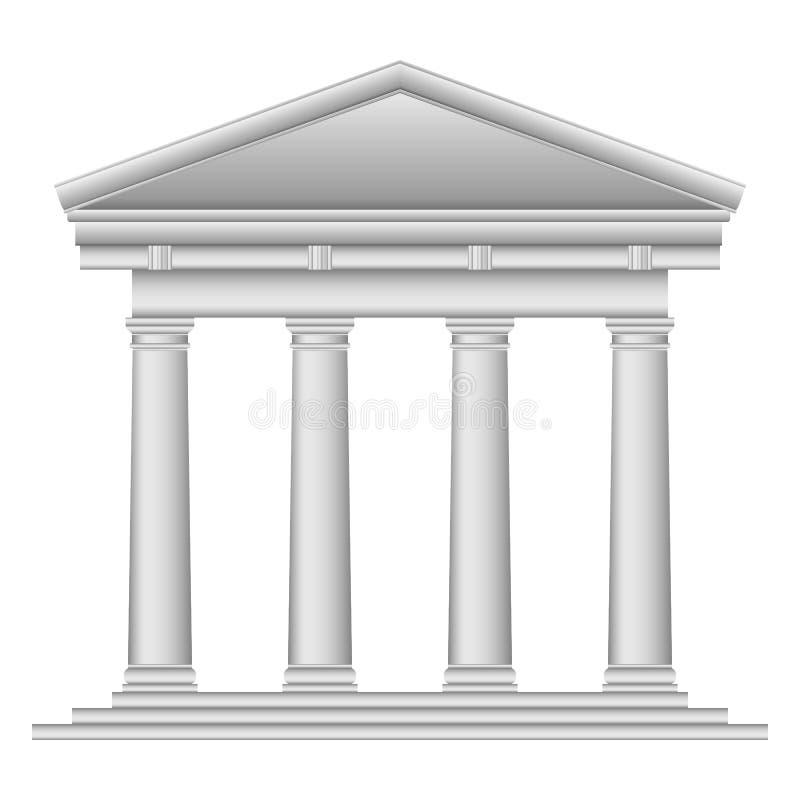 Тосканский римский висок иллюстрация вектора