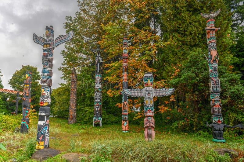 Тотемный столб - Ванкувер, Канада стоковые фотографии rf