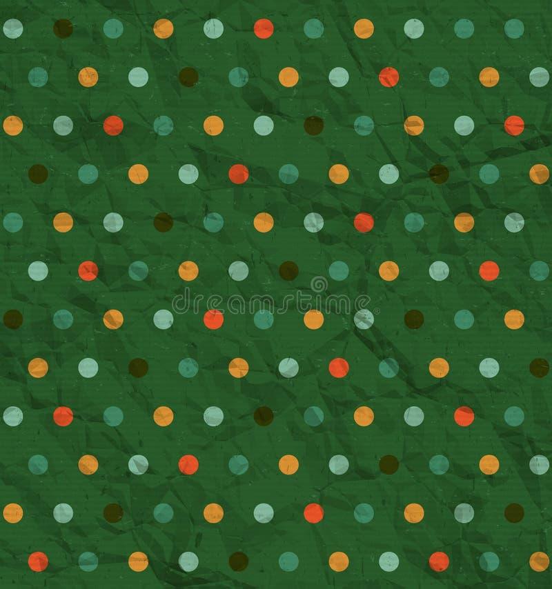 Точечный растр польки на зеленой предпосылке иллюстрация штока