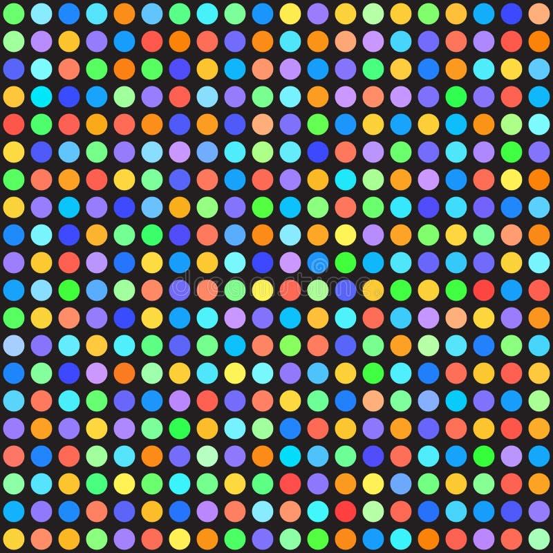 Точечный растр польки радуги вектор предпосылки безшовный иллюстрация вектора