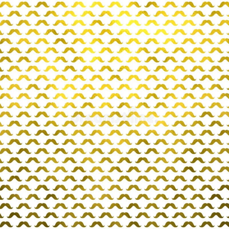 Точечный растр польки усиков фольги Faux усика золота металлический стоковые изображения rf