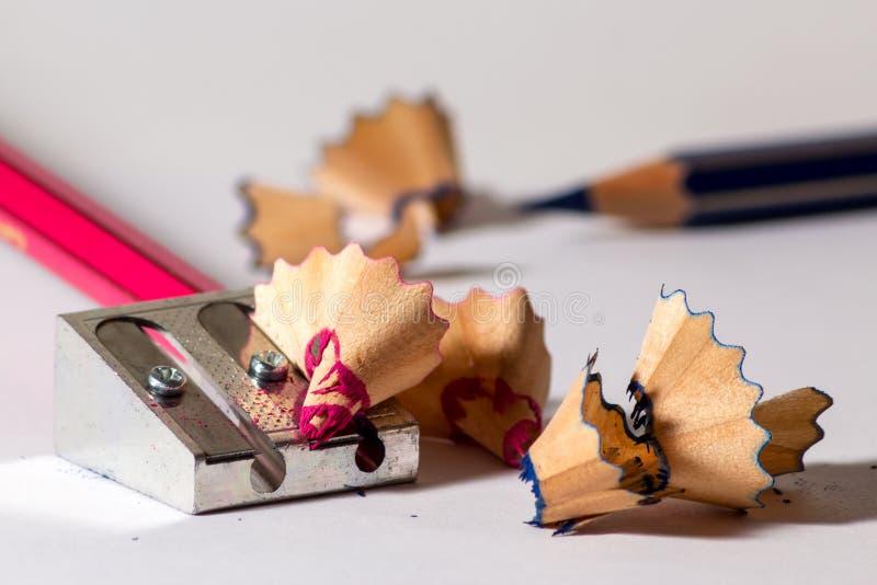 Точить красный карандаш стоковые фотографии rf