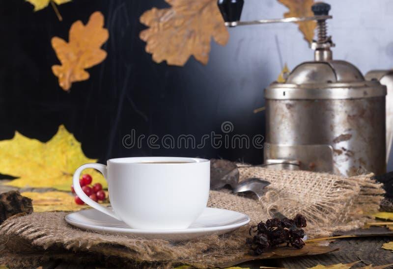 точильщик кофейной чашки стоковая фотография rf