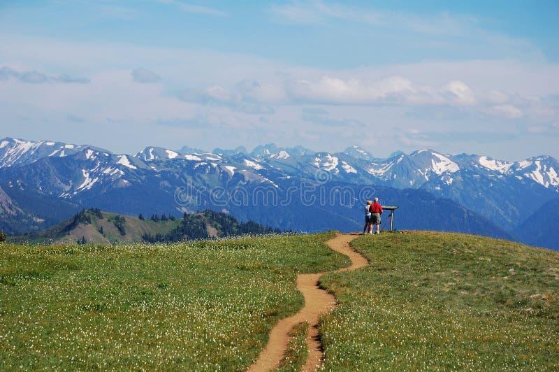 точка зрения горы стоковое изображение rf
