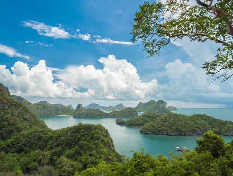 Точка зрения национального парка Angthong Koh Mue, Samui стоковое изображение rf