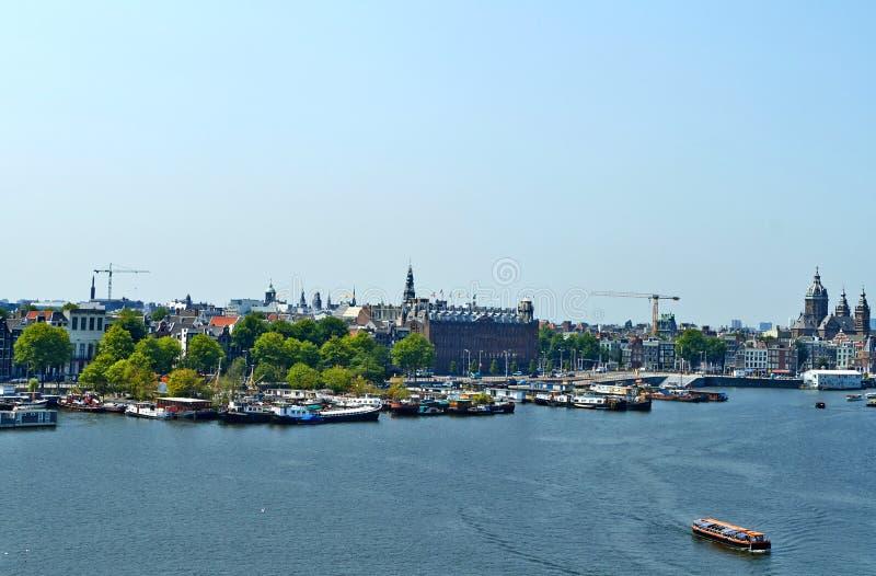 Точка зрения на Амстердаме стоковое изображение rf
