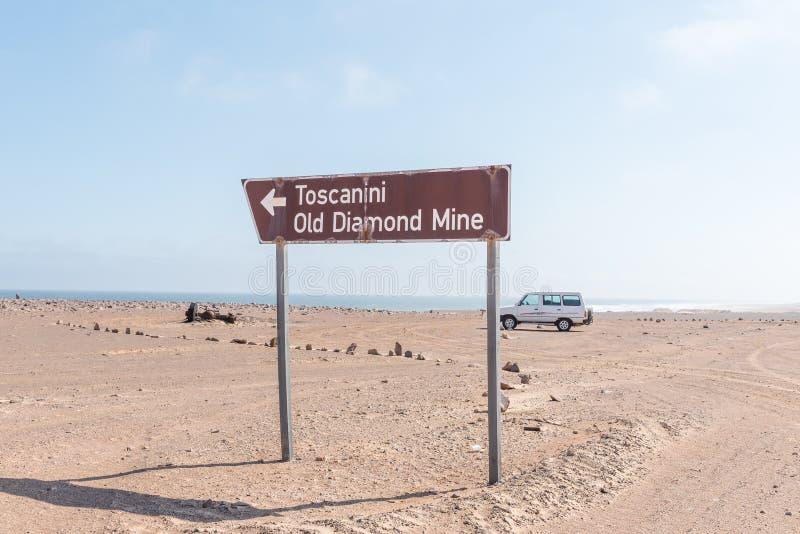 Точка зрения на старой шахте Toscanini стоковое изображение
