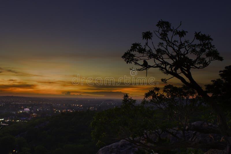 Точка зрения от верхней части горы стоковое фото