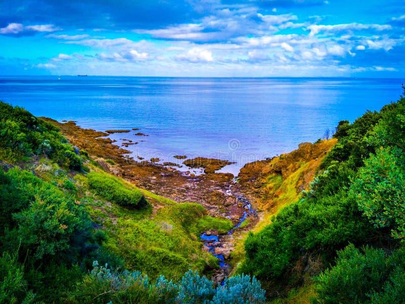Точка зрения clifftop Марты держателя стоковое изображение