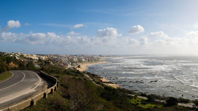 Точка зрения Figueira da Foz Mondego накидки стоковое фото