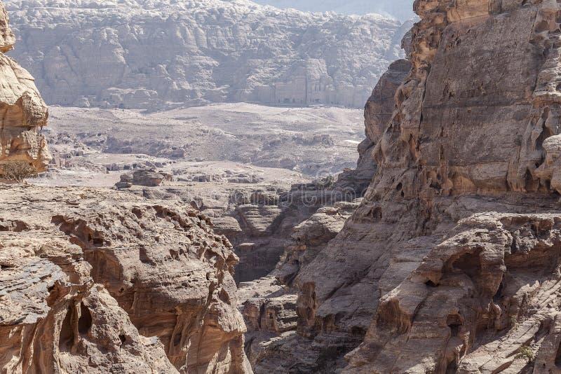 Точка зрения Petra стоковое фото